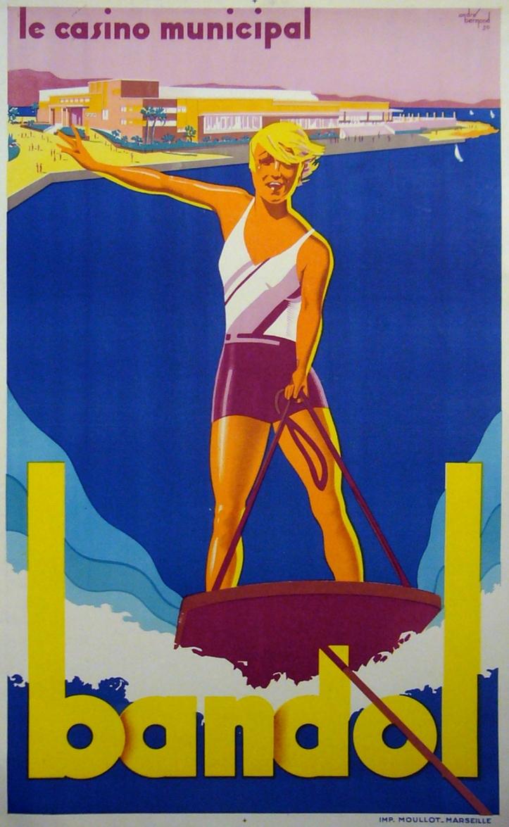 Vintage Travel Poster Bandol France Andre Bermond