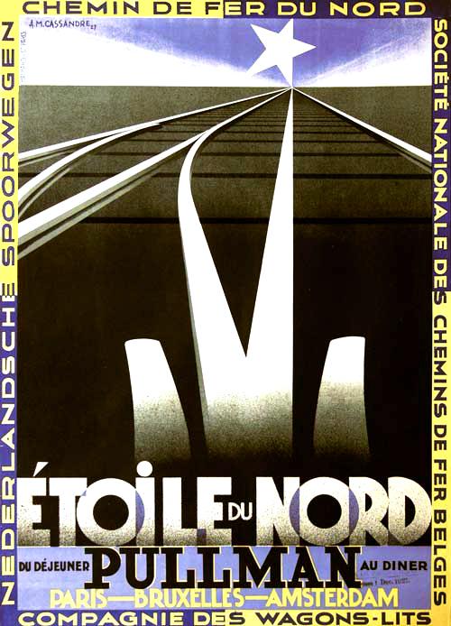 Etoile du Nord Cassandre Art Deco Poster Design