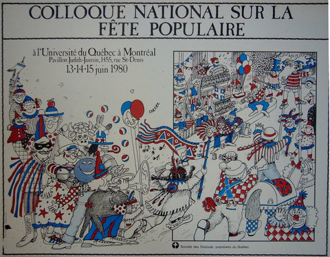 Montreal Vintage Poster Quebec History - Histoire du Quebec Affiches