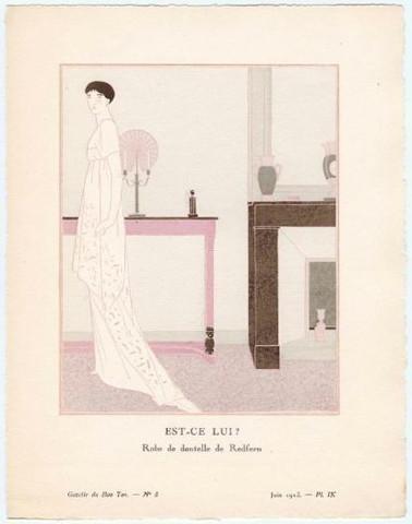 Gazette du Bon Ton - Robe de Redfern 1920s Art Deco