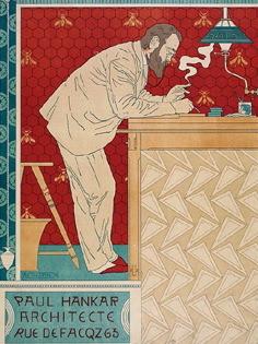 Paul Hankar Architecte Vintage Poster Maitres de L'Affiche