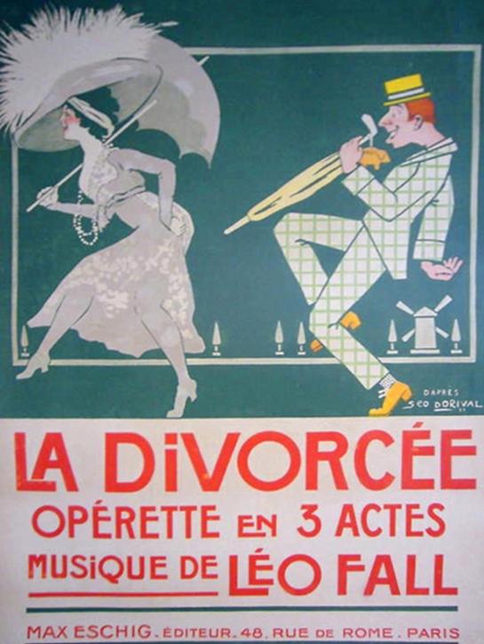 La divorcee Vintage Opera Posters
