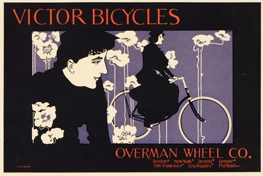 Victor Bicycles Original Vintage Poster