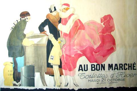 Au Bon Marche Vintage Poster 1920s