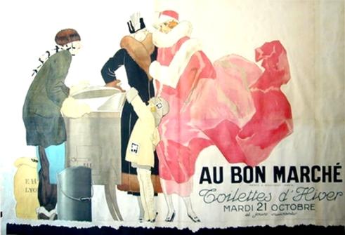 Au Bon Marche Vintage Poster Vincent