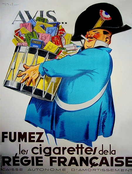 Regie Francaise Rene Vincent Vintage Tobacco Posters
