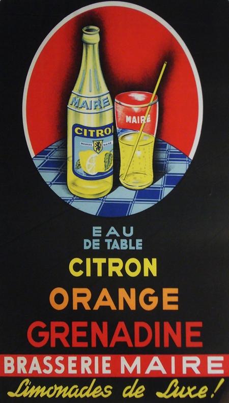 Brasserie Maire Art Deco Vintage Ad