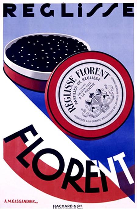 Cassandre Vintage Poster Art Deco Reglisse Florent