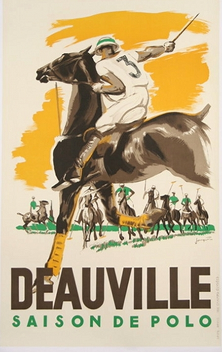 Deauville Polo Vintage Sports Poster