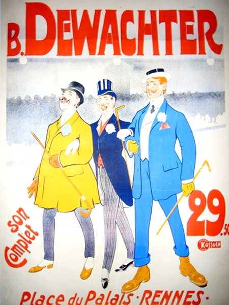 Maison Dewachters Vintage Poster