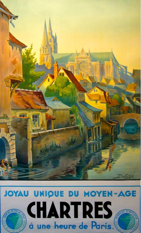 Chartres France French Travel Posters