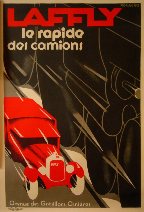 laffly le rapid des camions art deco poster cars trains, Roggero
