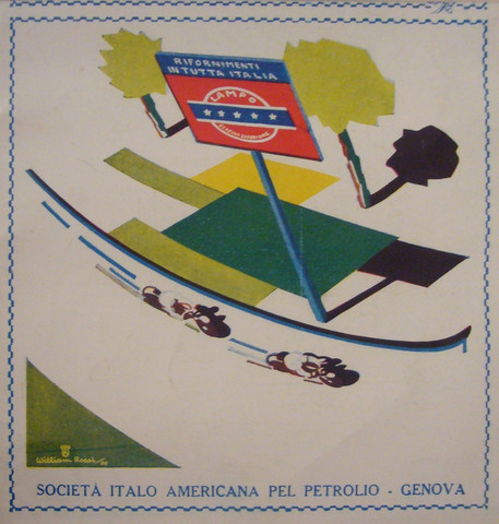 Lampo Societa italo americano per petrolio Gasoline Ad