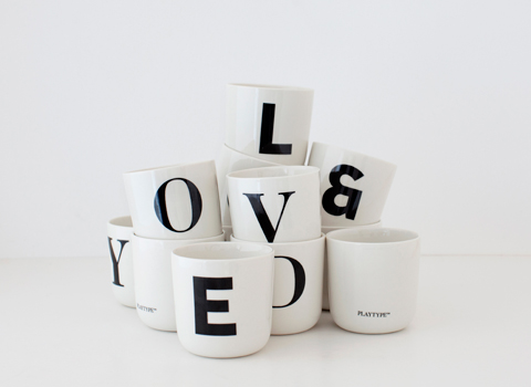 Playtype Fonts Coffe Mugs Concept Store