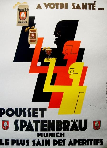Jean Carlu Art DEco Poster Pousset Spatenbrau