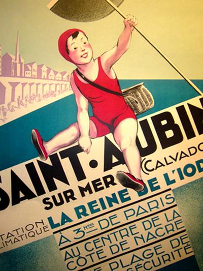 Saint Aubin Sur Mer Art Deco Typography Andre Galland