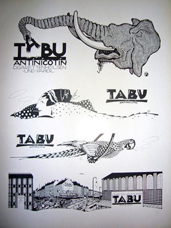 Tabu Doodles, Klinger German Jewish Artists Art Deco Typography