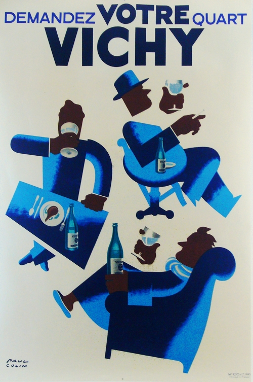 Vichy Paul Colin Art Deco Vintage Poster Typography
