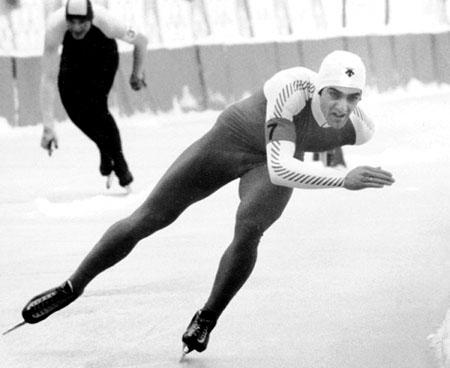 Sarajevo Olympics Speed Skating Vintage Photo