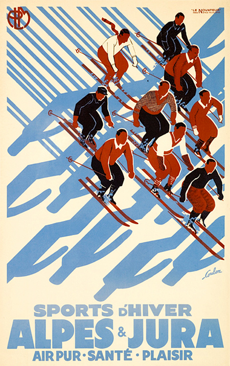 Alpes Ski Poster