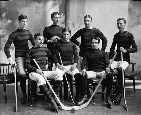 Bank Of Montreal Hockey Team Vintage Photograph