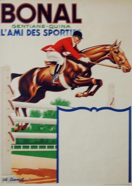 Bonal Horseback Rider Vintage Poster