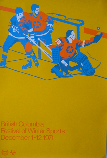 British Columbia Festival of Winter Sports Vintage Poster
