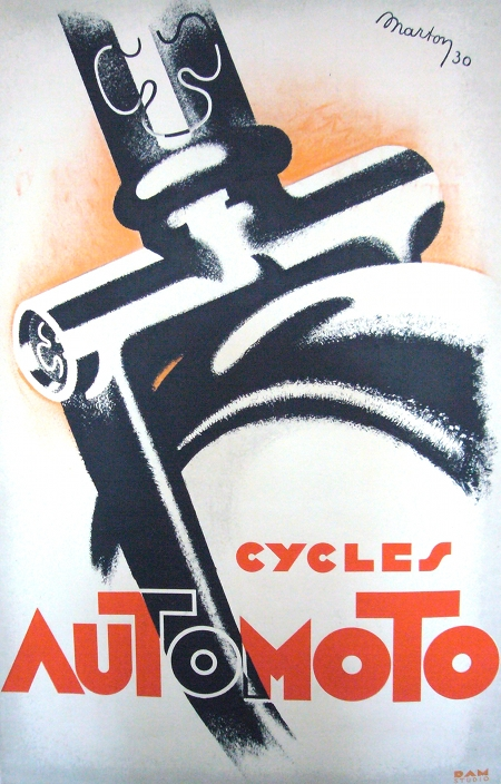 Cycles Automoto Vintage Poster Art Deco