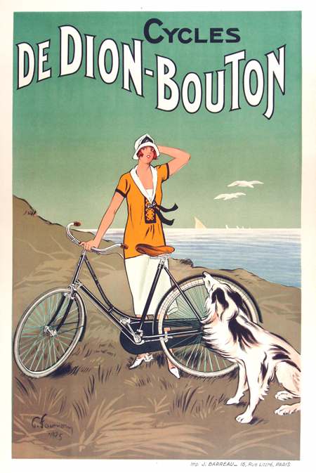 Cycles Dion Bouton Vintage Poster