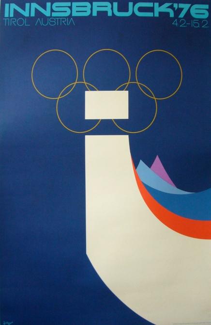 Innsbruck 76 Vintage Olympics Poster