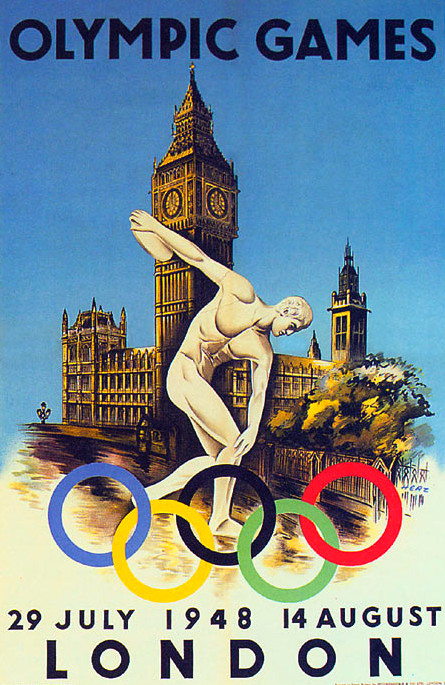 London Olympics Poster Vintage