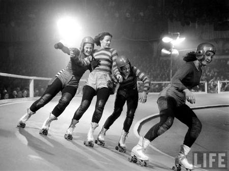 Vintage Roller Derby Image Life Magazine