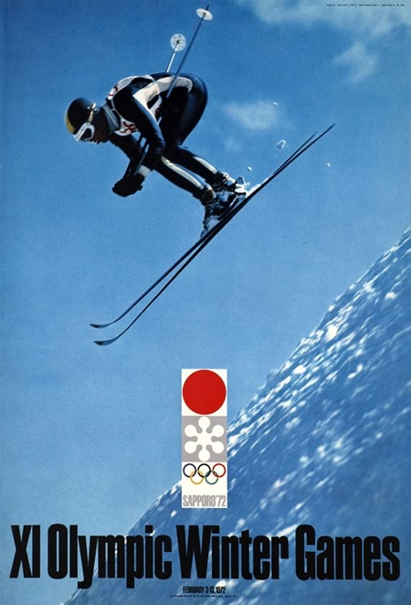 Sapporo Winter Games Olympics poster