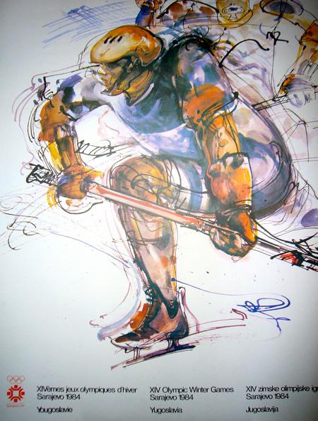 Sarajevo Olympics Hockey 84 poster