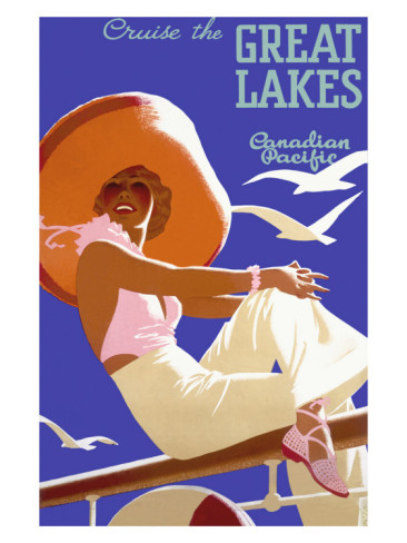 canadian-pacific-great-lakes-cruise vintage Posters