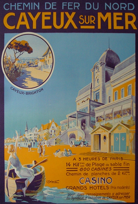 cayeux  sur mer Vintage Travel poster France