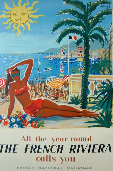 French-Riviera Vintage Travel Posters