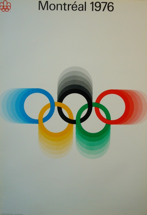 montreal-olympics-1976-loops-logo-vintage-poster