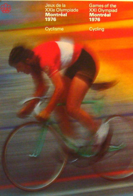 OLYMPIC-POSTER-1976-MONTREAL-OLYMPICS-CYCLING-