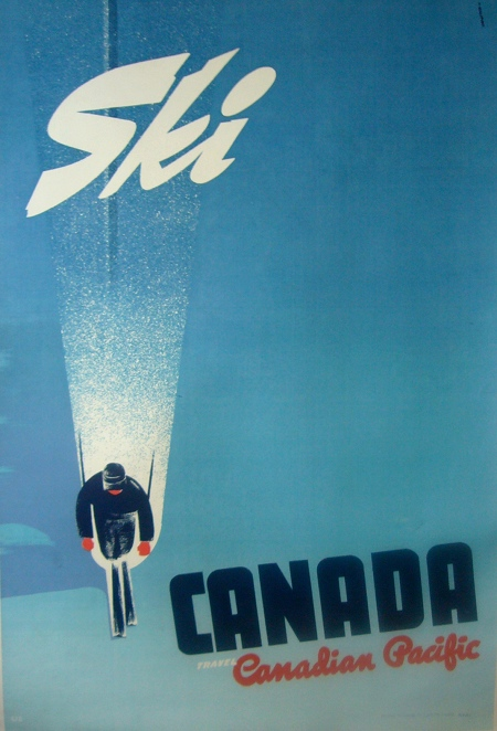 Ski Canada - CP- Vintage Poster