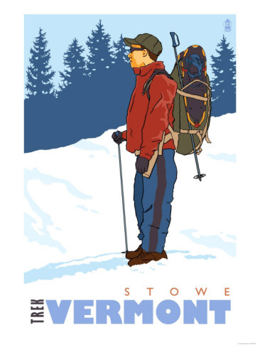 snow-hiker-stowe-vermont