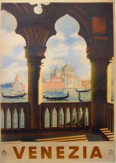 Venezia Enit Vintage Poster Italian