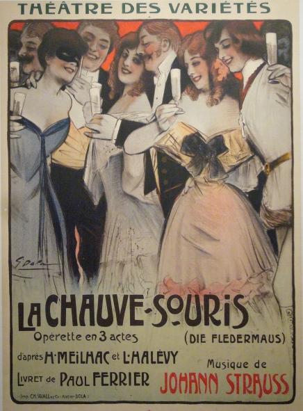 1904 Opera Poster La Chauve Souris - Dola