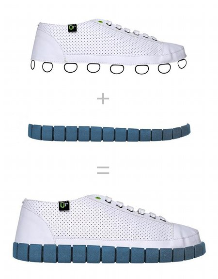 Lego inspired shoes
