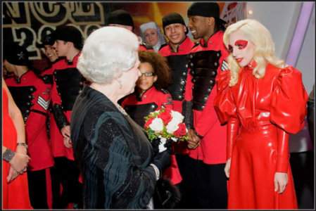 Lady Gaga Meets the Queen