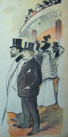 GIL BLAS Song Sheet 23 FEB 1896 - A Night at the Opera - Steinlen