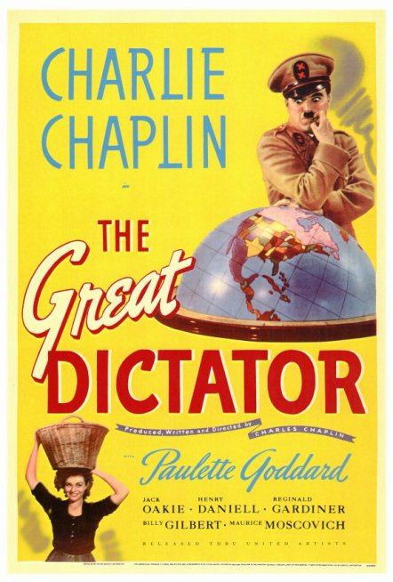 The Great Dictator starring Charlie Chaplin
