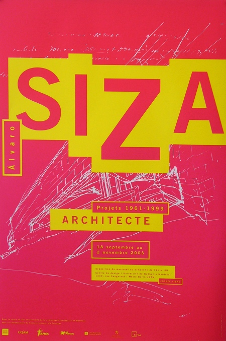 Centre De Design LUQAM Alvaro Siza Exhibition Poster Halmai