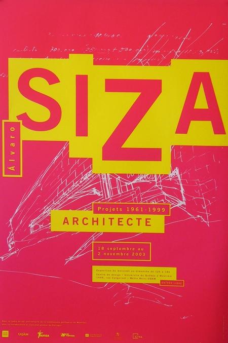 Centre De Design De L'UQAM, Alvaro Siza Exhibition Poster Halmai