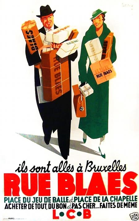 Rue Blaes Art Deco Vintage Poster